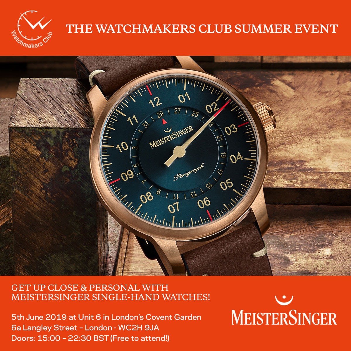 PRESENTING THE WATCHMAKERS CLUB EVENT JUNE 2019